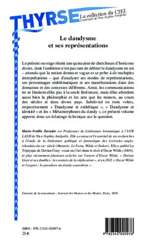 4eme Le dandysme et ses représentations