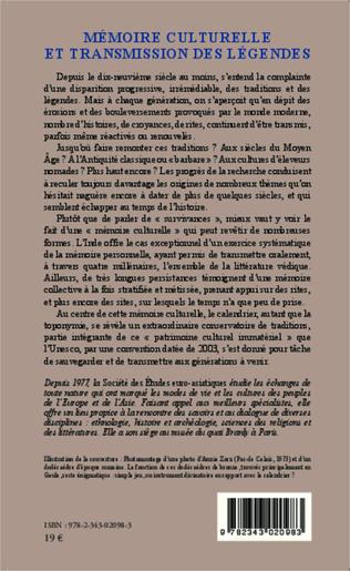 4eme Mémoire culturelle et transmission des légendes