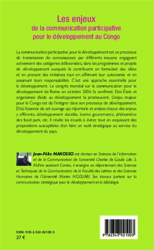 4eme Les enjeux de la communication participative pour le développement au Congo