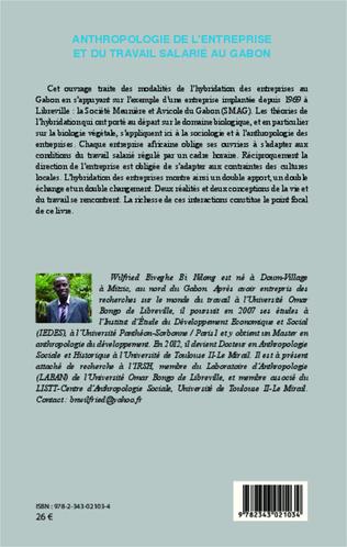 4eme Anthropologie de l'entreprise et du travail salarié au Gabon