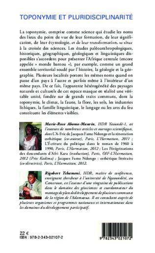 4eme ÉCOLOGIE, GÉOMORPHOLOGIE ET MÉTALLURGIE ANCIENNE DU FER EN AFRIQUE CENTRALE : FONDEMENT D'UNE INTÉGRATION CULTURELLE SOUS REGIONALE