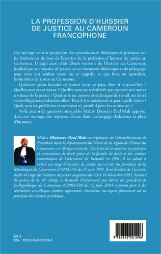 4eme La profession d'huissier de justice au Cameroun francophone