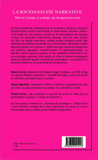 4eme La socioanalyse narrative