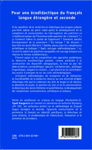 4eme Pour une écodidactique du français langue étrangère et seconde