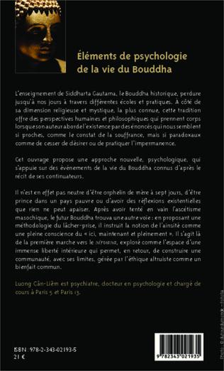 4eme Eléments de psychologie de la vie du Bouddha