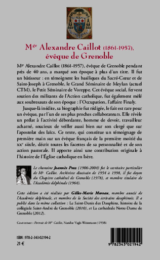 4eme Mgr Alexandre Caillot (1861 - 1957)