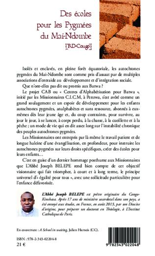 4eme Des écoles pour les pygmées du Mai-Ndombe