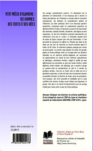 4eme Petit précis d'islamisme : des hommes, des textes et des idées
