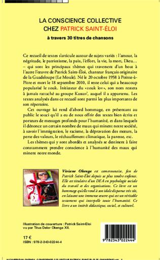 4eme La conscience collective chez Patrick Saint-Éloi