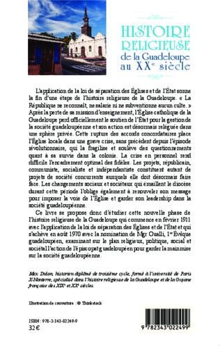 4eme Histoire religieuse de la Guadeloupe au XXe siècle