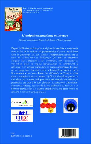 4eme L'antiparlementarisme en France