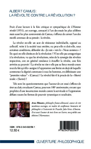 4eme Albert Camus : La révolte contre la révolution ?