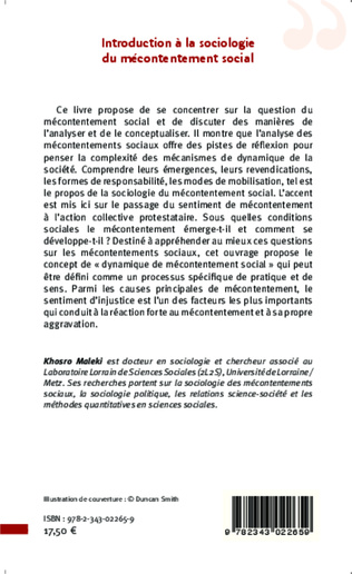 4eme Introduction à la sociologie du mécontentement social
