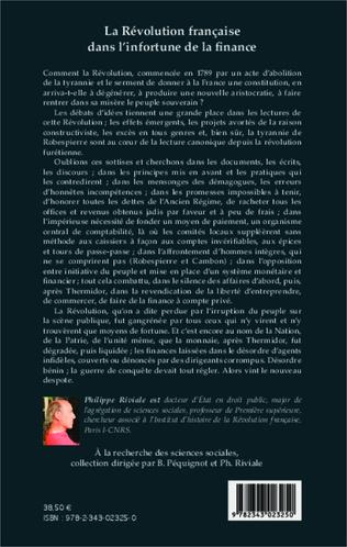 4eme La Révolution française dans l'infortune de la finance