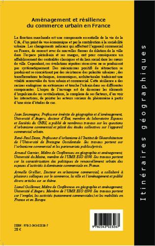 4eme Aménagement et résilience du commerce urbain en France