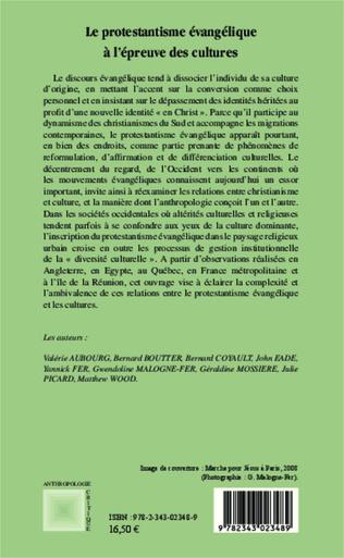 4eme Le protestantisme évangélique à l'épreuve des cultures