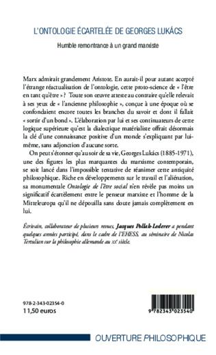 4eme L'ontologie écartelée de Georges Lukács