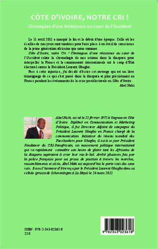 4eme Côte d'Ivoire notre cri