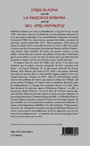 4eme Idriss Alaoma Le Caïman noir du Tchad suivi de