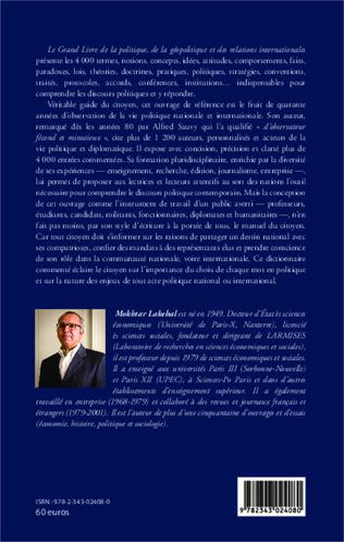 4eme Le grand livre de la politique, de la géopolitique et des relations internationales