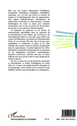 4eme Communication et intelligence du social (Tome 1)
