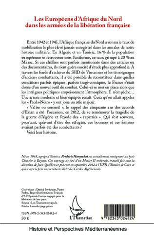 4eme Les Européens d'Afrique du Nord dans les armées de la libération française