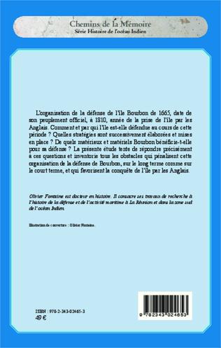 4eme Défense et défenseurs de l'île Bourbon (1665-1810)
