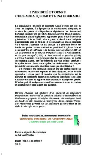 4eme Hybridité et genre chez Assia Djebar et Nina Bouraoui