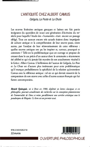 4eme L'antiquité chez Albert Camus