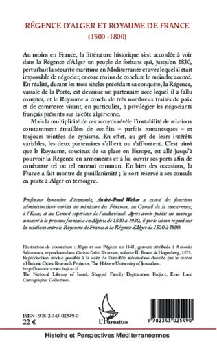 4eme Régence d'Alger et Royaume de France (1500-1800)