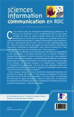 4eme Les sciences de l'information et de la communication en RDC