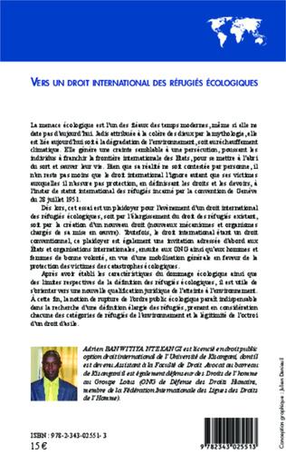 4eme Vers un droit international des réfugiés écologiques