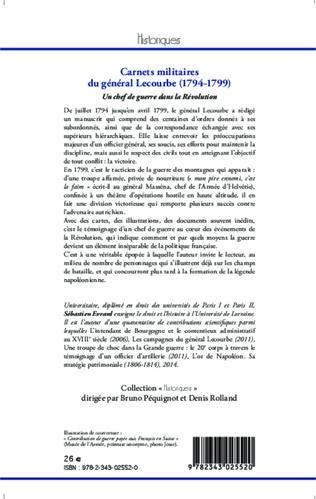 4eme Carnets militaires du général Lecourbe (1794-1799)