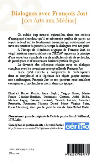 4eme Dialogues avec François Jost (des Arts aux Médias)