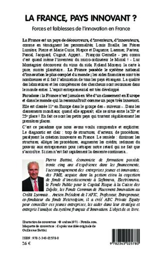 4eme La France, pays innovant ?