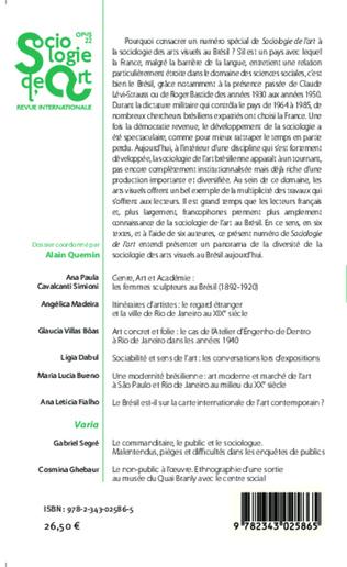 4eme La sociologie des arts visuels au Brésil