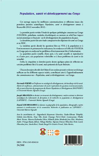 4eme L'OFFRE DE DEPISTAGE DU VIH DANS LE CONTEXTE DU 52ème ANNIVERSAIRE DE L'INDEPENDANCE DU CONGO ET DE LA MUNICIPALISATION ACCELEREE DU POOL : ENJEUX STRATEGIQUES ET PERSPECTIVES