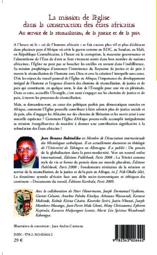 4eme La mission de l'église dans la construction des états africains