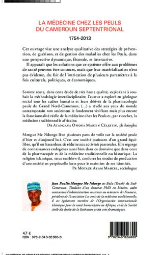 4eme La médecine chez les Peuls du Cameroun septentrional