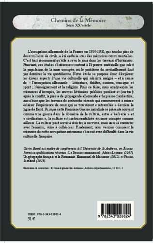 4eme La vie culturelle dans la France occupée (1914-1918)