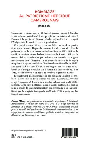 4eme Hommage au patriotisme héroïque camerounais (1914-2014)