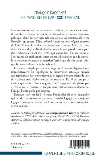 4eme François Dagognet ou l'apologie de l'art contemporain