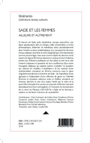 4eme Sade et les femmes