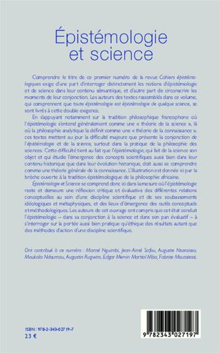 4eme Epistémologie et science