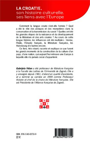 4eme La Croatie, son histoire culturelle, ses liens avec l'Europe