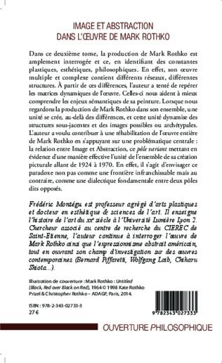 4eme Image et abstraction dans l'oeuvre de Mark Rothko (Tome 2)