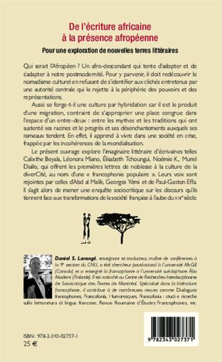 4eme De l'écriture africaine à la présence afropéenne