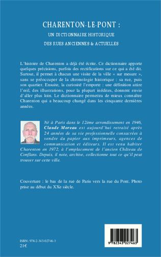 4eme Charenton-le-Pont : un dictionnaire historique des rues anciennes et actuelles