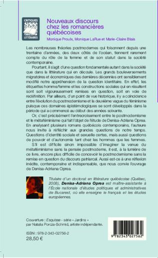4eme Nouveaux discours chez les romancières québécoises