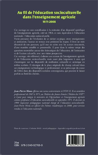 4eme Au fil de l'éducation socioculturelle dans l'enseignement agricole 1971-2008